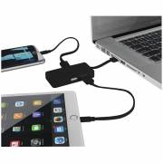 Grid USB Hub mit 2 Kabeln