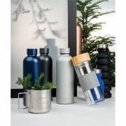 Impact doppelwandige Stainless Steel Vakuum-Flasche-silber
