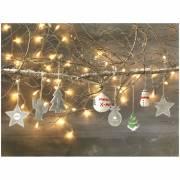 Malen Sie einen Weihnachtsbaum-weiß