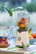 Smoothie-Mixer mit Retroglas -weiß-grau