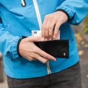 Swiss Peak RFID Anti-Skimming Portemonnaie - schwarz