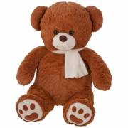 Teddybär Theodor mit Schal, bedruckbar