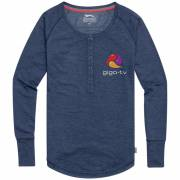 Slazenger Touch Damen Langarm Shirt - blau(mittelblau) - XS