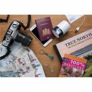 Travel Blue Reiseadapter Erfurt mit USB-weiß