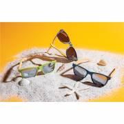 Weizenstroh und Bambus Sonnenbrille-schwarz
