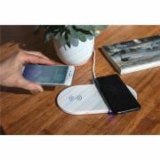 Wireless-Charger mit zwei 5W Ladeflächen-weiß
